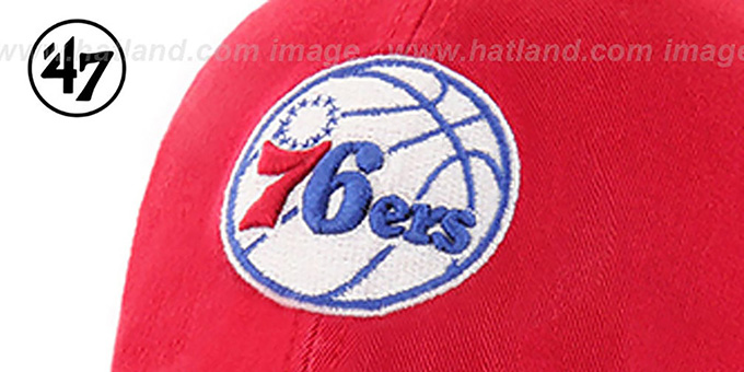 76ers 'CLEAN-UP STRAPBACK' Red Hat by Twins 47 Brand
