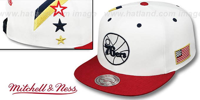 76ers 'INDEPENDENCE SNAPBACK' Hat by Mitchell and Ness