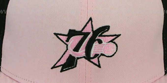 76ers 'PINWHEEL' Light Pink-Black Fitted Hat by New Era