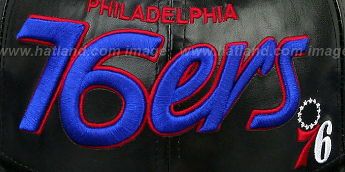 76ers 'REDUX SNAPBACK' Black Hat by New Era