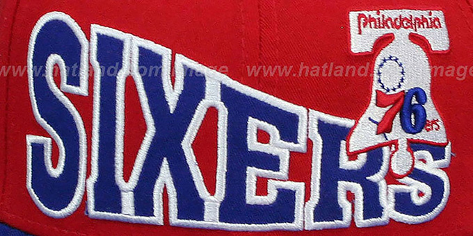 76ers 'STOKED SNAPBACK' Red-Royal Hat by New Era