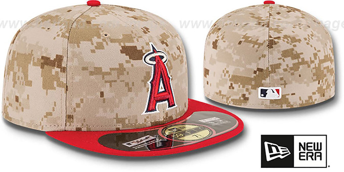 Angels '2014 STARS N STRIPES' Fitted Hat by New Era