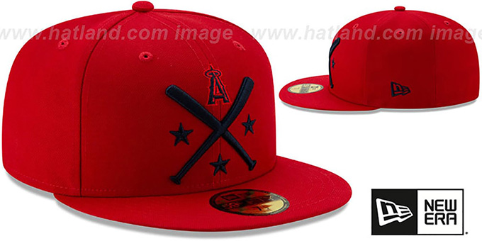 Angels '2019 MLB ALL-STAR ALTERNATE WORKOUT' Red Fitted Hat by New Era