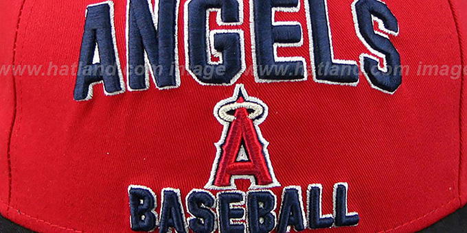 Angels '2T PAYDIRT SNAPBACK' Red-Navy Adjustable Hat by New Era