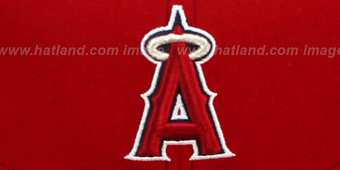 Angels 'CONTRAST BP-MESH' Red Fitted Hat by New Era