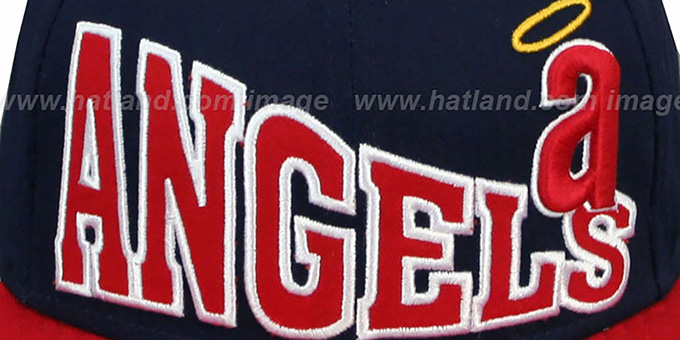 Angels COOP 'STOKED SNAPBACK' Navy-Red Hat by New Era