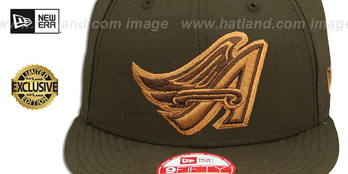 Angels COOP 'TEAM-BASIC SNAPBACK' Brown-Wheat Hat by New Era