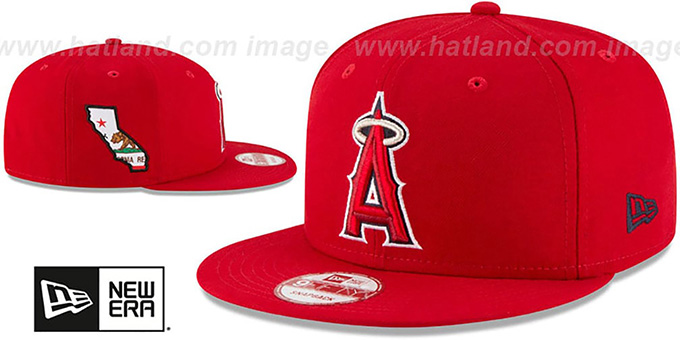 Angels 'STATE STARE SNAPBACK' Red Hat by New Era