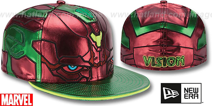 Armor Vision 'CHARACTER FACE' Green-Rust Fitted Hat by New Era
