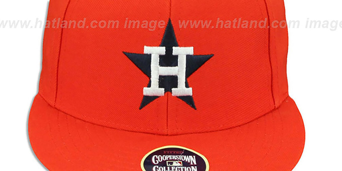 Astros '1975 COOPERSTOWN ' Fitted Hat by Twins 47 Brand