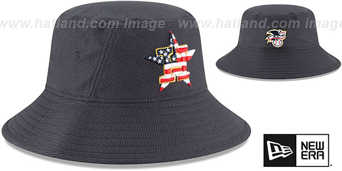 Astros '2018 JULY 4TH STARS N STRIPES BUCKET' Navy Hat by New Era