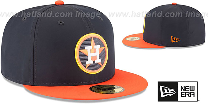 Astros '2018 PROLIGHT-BP' Navy-Orange Fitted Hat by New Era