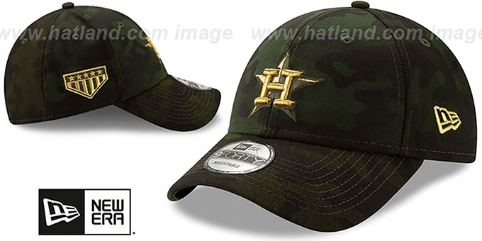 Astros 2019 ARMED FORCES 'STARS N STRIPES STRAPBACK' Hat by New Era