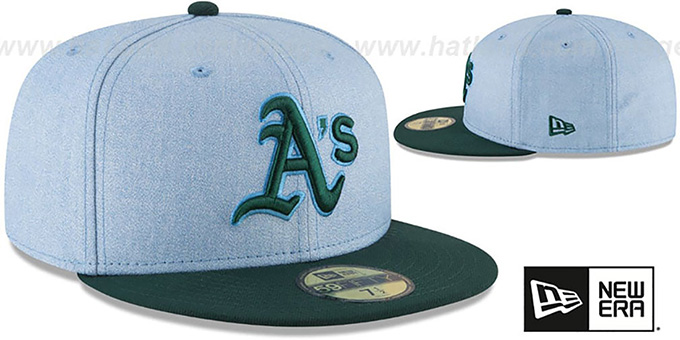 Athletics '2018 FATHERS DAY' Sky-Green Fitted Hat by New Era