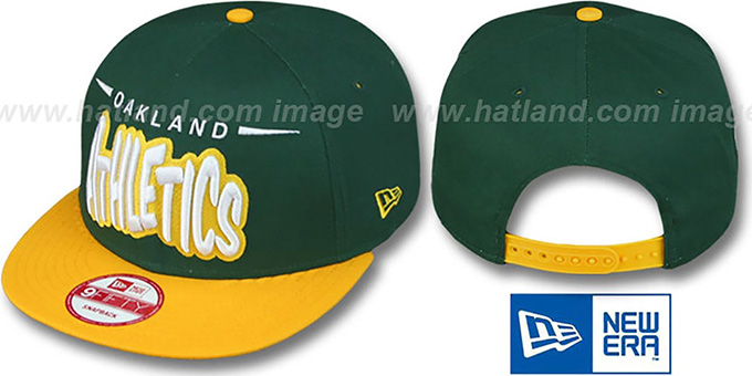 Athletics '2T DOPETASTIC SNAPBACK' Green-Gold Hat by New Era