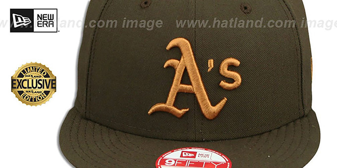 Athletics 'TEAM-BASIC SNAPBACK' Brown-Wheat Hat by New Era
