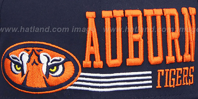 Auburn 'RETRO-SNAPBACK' Navy Hat by New Era