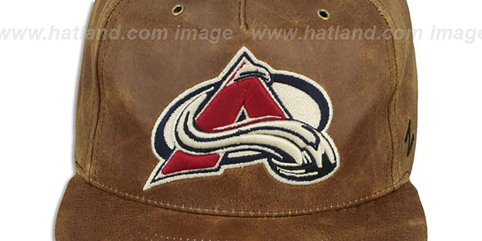 Avalanche 'DYNASTY LEATHER STRAPBACK' Brown Hat Zephyr