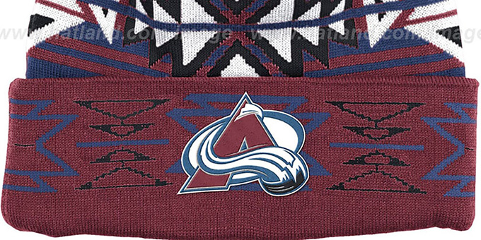 Avalanche 'GEOTECH' Knit Beanie by Mitchell and Ness