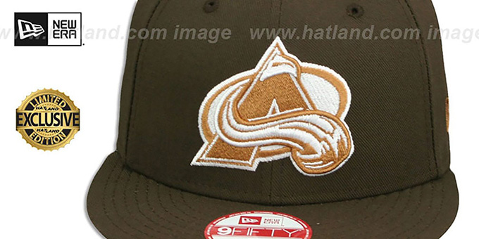 Avalanche 'TEAM-BASIC SNAPBACK' Brown-Wheat Hat by New Era