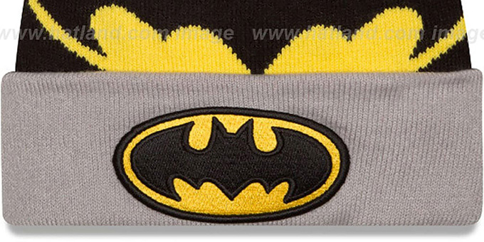 Batman 'LOGO WHIZ' Black-Grey Knit Beanie Hat by New Era