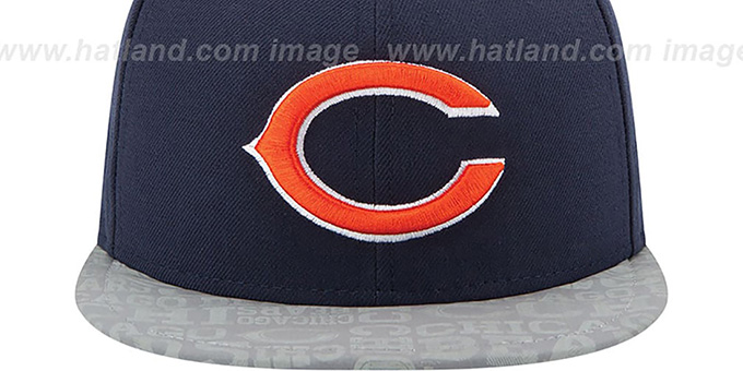Bears '2014 NFL DRAFT' Navy Fitted Hat by New Era