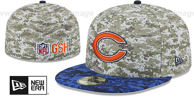 Bears '2015 SALUTE-TO-SERVICE' Desert-Navy Fitted Hat by New Era