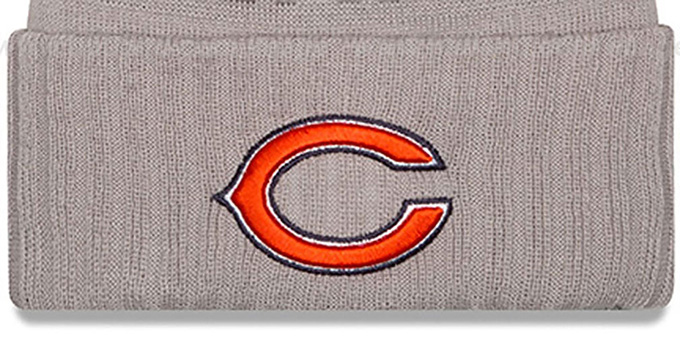 Bears '2015 STADIUM' Grey-Navy Knit Beanie Hat by New Era