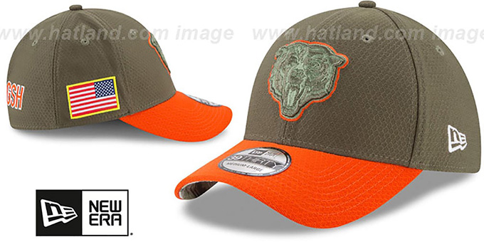 Bears '2017 SALUTE-TO-SERVICE FLEX' Green-Orange Hat by New Era
