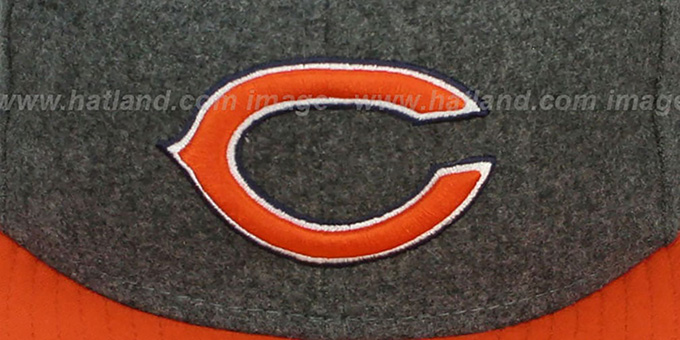 Bears '2T NFL MELTON-BASIC' Grey-Orange Fitted Hat by New Era