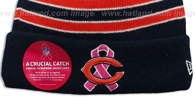 Bears 'BCA CRUCIAL CATCH' Knit Beanie Hat by New Era