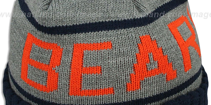 Bears 'HIGH-5 CIRCLE BEANIE' Grey-Navy by Mitchell and Ness