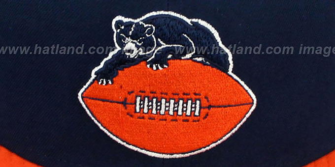 Bears 'NFL 2T THROWBACK TEAM-BASIC' Navy-Orange Fitted Hat by New Era