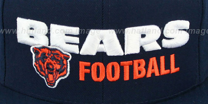 a91ec3b82fb ... Bears  NFL-BLOCKER SNAPBACK  Navy Hat by Mitchell and Ness ...