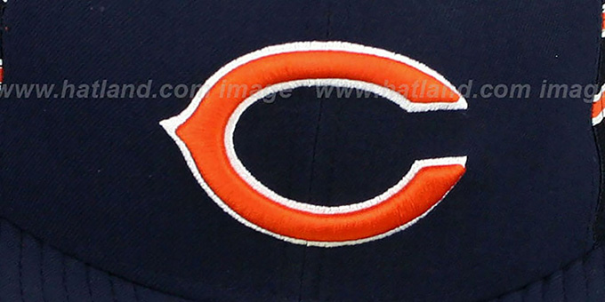 Bears 'NFL JERSEY-STRIPE' Navy Fitted Hat by New Era