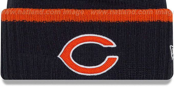 Bears 'RIBBED-UP' Navy Knit Beanie Hat by New Era