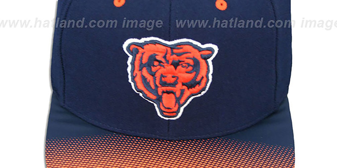 Bears 'STOP-ON-A-DIME SNAPBACK' Navy-Orange Hat by Mitchell and Ness