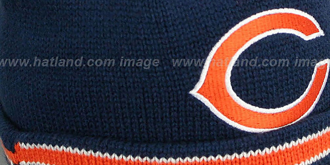 Bears 'XL-LOGO BEANIE' Navy by Mitchell and Ness