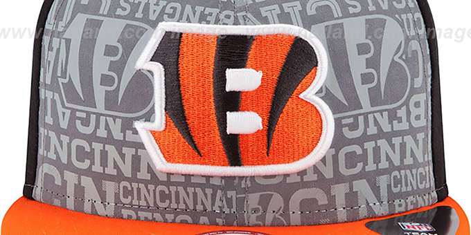 Bengals '2014 NFL DRAFT SNAPBACK' Black-Orange Hat by New Era