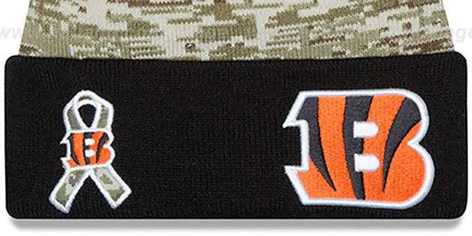 Bengals '2015 SALUTE-TO-SERVICE' Knit Beanie Hat by New Era