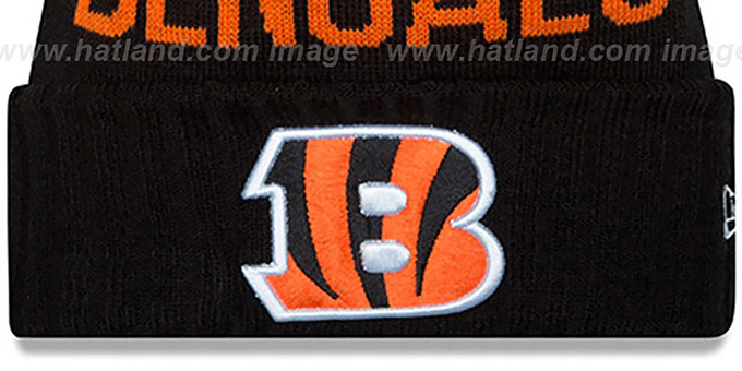 Bengals '2015 STADIUM' Black-Orange Knit Beanie Hat by New Era