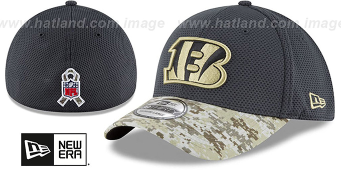 Bengals '2016 SALUTE-TO-SERVICE FLEX' Grey-Desert Hat by New Era