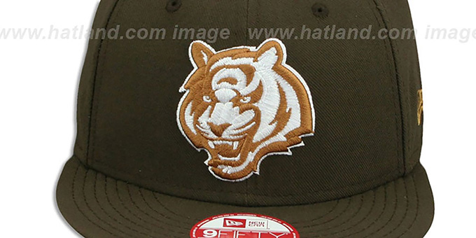 Bengals 'ALT TEAM-BASIC SNAPBACK' Brown-Wheat Hat by New Era