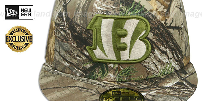 Bengals 'NFL TEAM-BASIC' Realtree Camo Fitted Hat by New Era