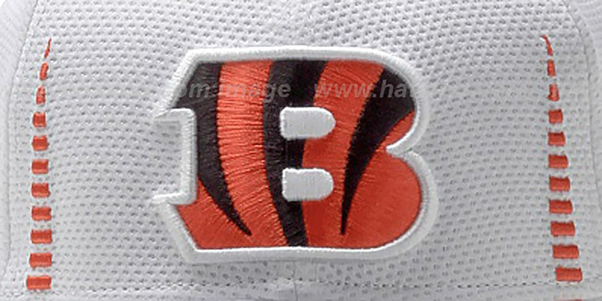 Bengals 'NFL TRAINING FLEX' White Hat by New Era