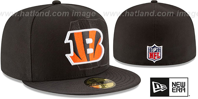 Bengals 'STADIUM SHADOW' Black Fitted Hat by New Era