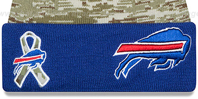 Bills '2015 SALUTE-TO-SERVICE' Knit Beanie Hat by New Era