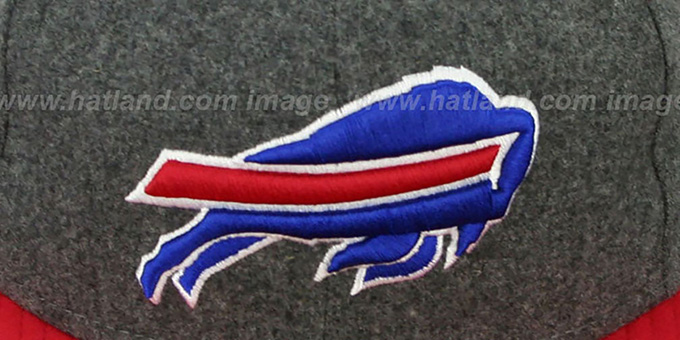 Bills '2T NFL MELTON-BASIC' Grey-Red Fitted Hat by New Era