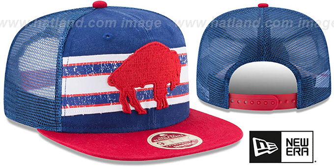Bills 'HERITAGE-STRIPE SNAPBACK' Royal-Red Hat by New Era