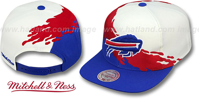 1c2dd3c5b22 ... Bills  PAINTBRUSH SNAPBACK  White-Red-Royal Hat by Mitchell and Ness ...